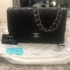 😍 CHANEL Jumbo Classic in Black Caviar